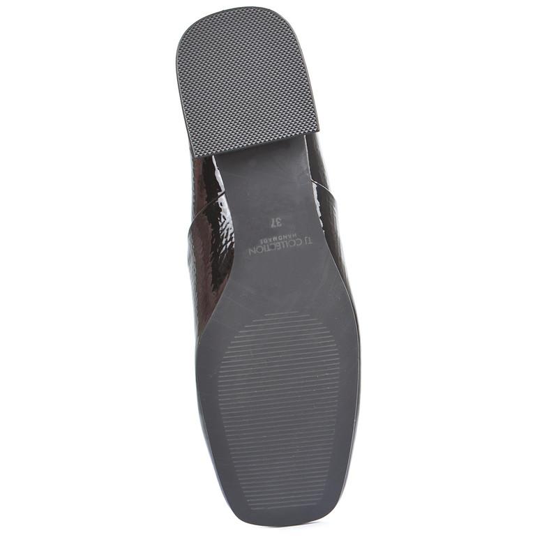 Women's Refined Patent Leather Slides GR 5231019 BLP