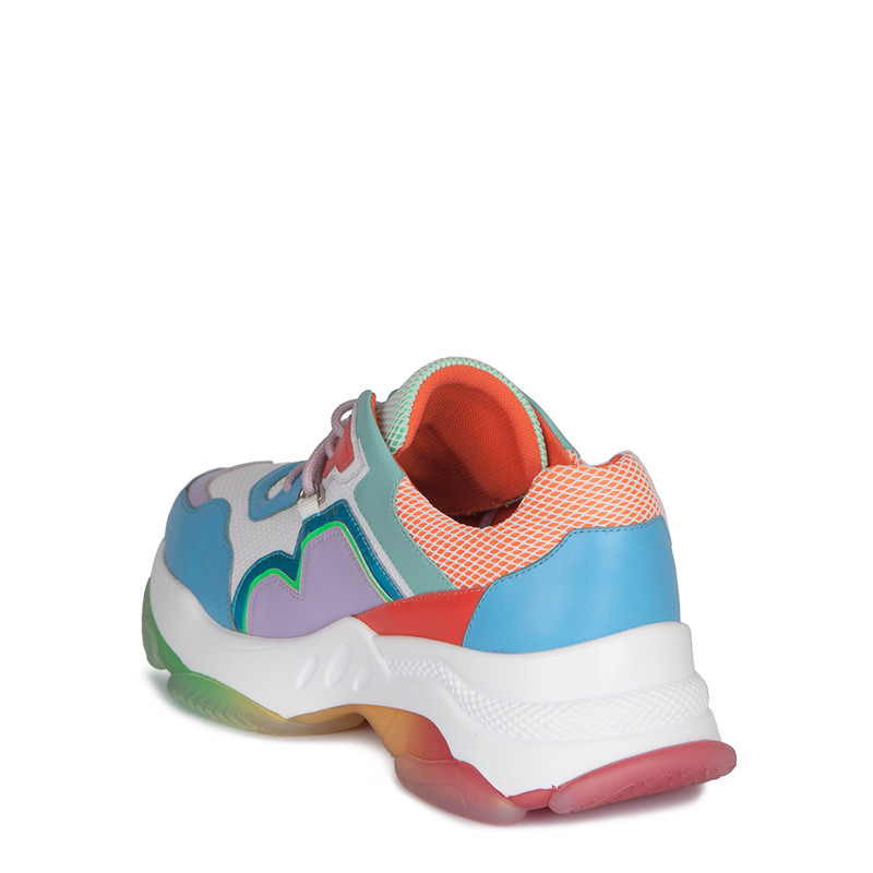 Women's Rainbow-Coloured Stratosphere Sneakers GS 5224010 WHM