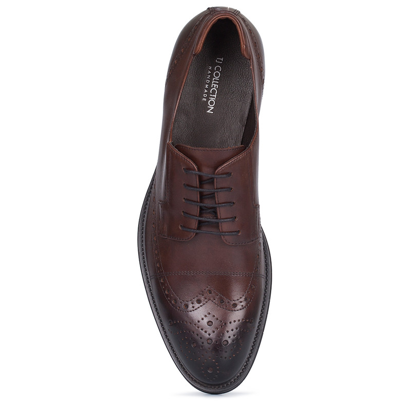 Men's Antique Brown Leather Derbies MP 7298810 CGA