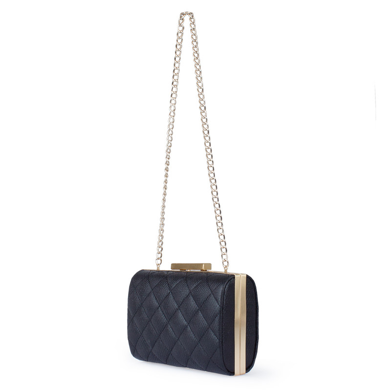 Matte Black Leather Salerno Clutch XB 5101020 BLZ