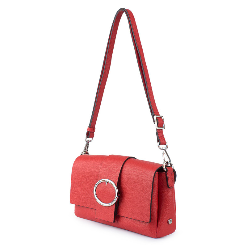 Red Leather Clutch Saint-Tropez YG 5152610 RED