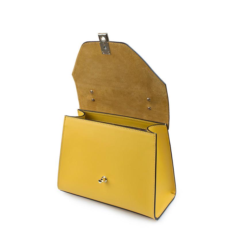 Yellow Leather Pisa Satchel Bag YG 5227910 YLZ