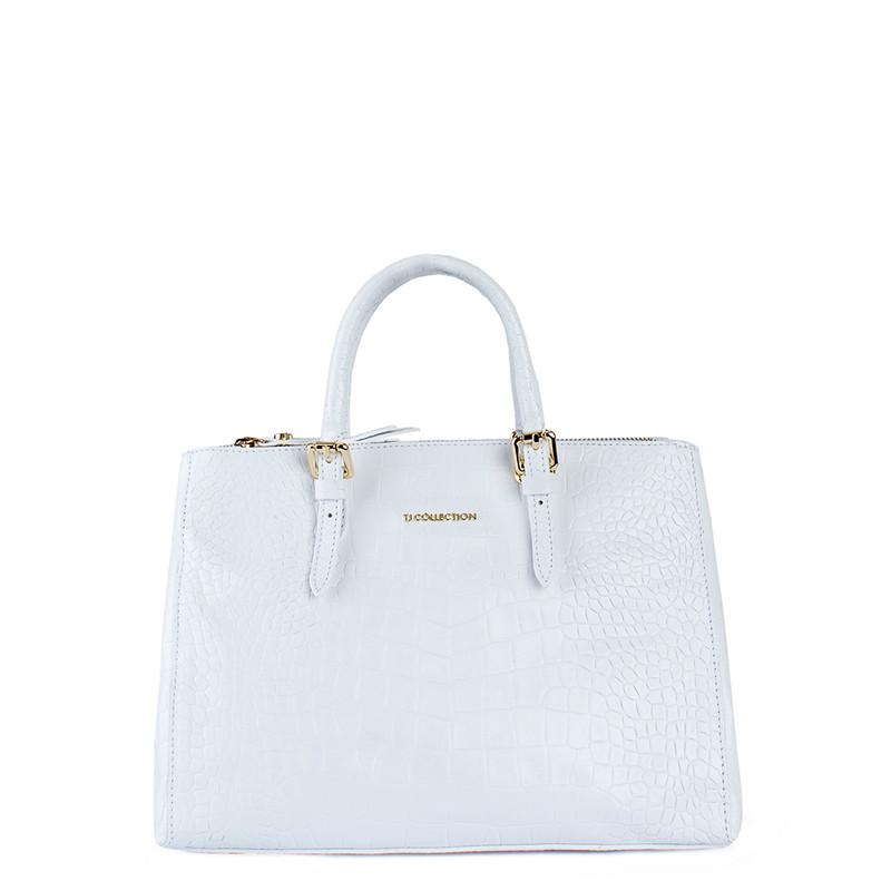Snow-White Leather Tote Sienna YG 5330810 WHC