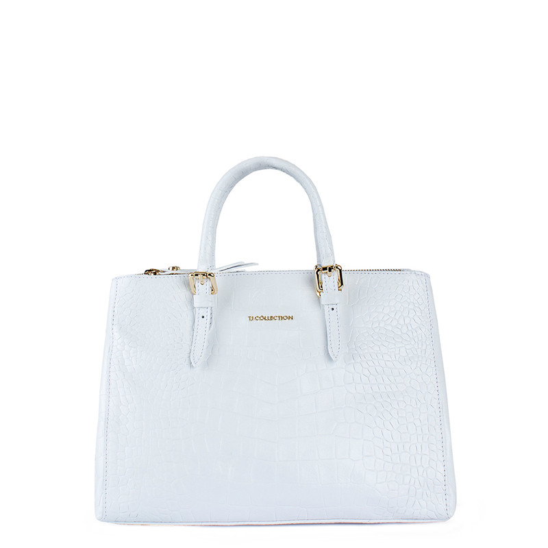 Snow-White Leather Tote Sienna YG 5330810 WHC
