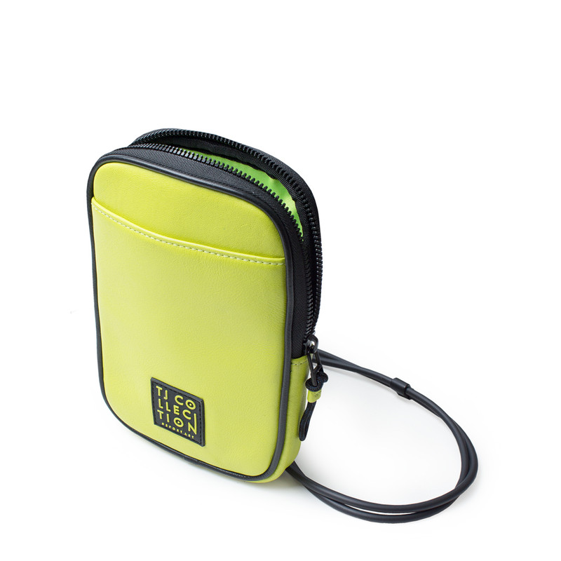 Lime Green Leather Unisex Shoreditch Bag YH 8100710 YLB