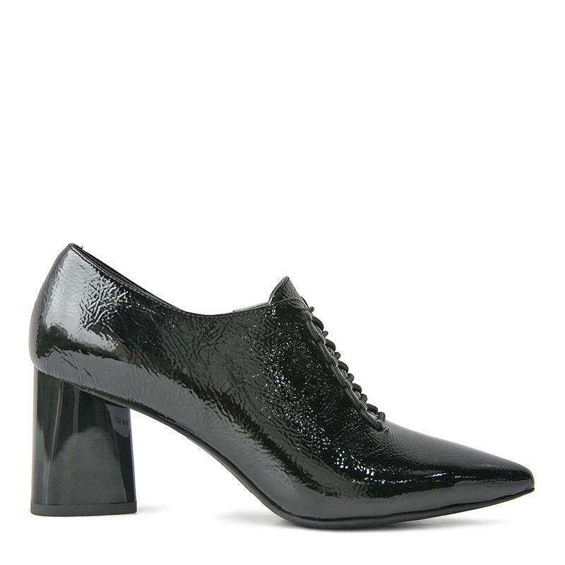 Women's Black Lace-Up Shoes GD 5271810 BLP