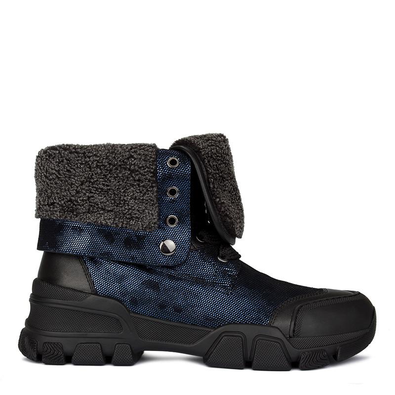 Women's Metallic Blue Boots GD 5518910 NVZ