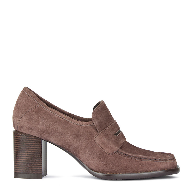 Women's Taupe Suede Shoes GF 5268810 TPS