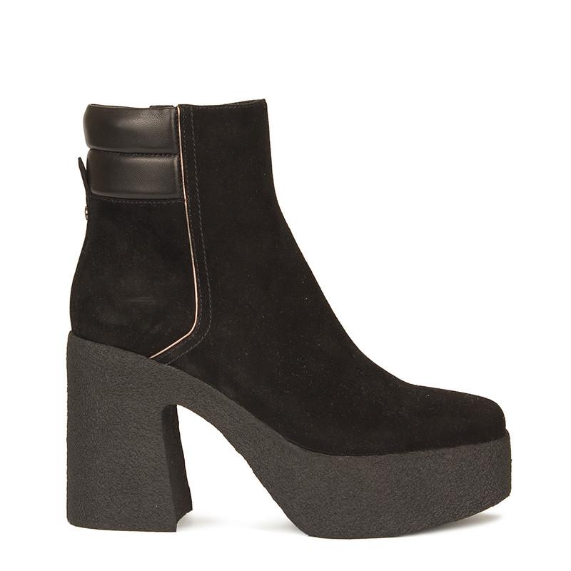 Women's Black Suede Ankle Boots  GF 5360210 BLS