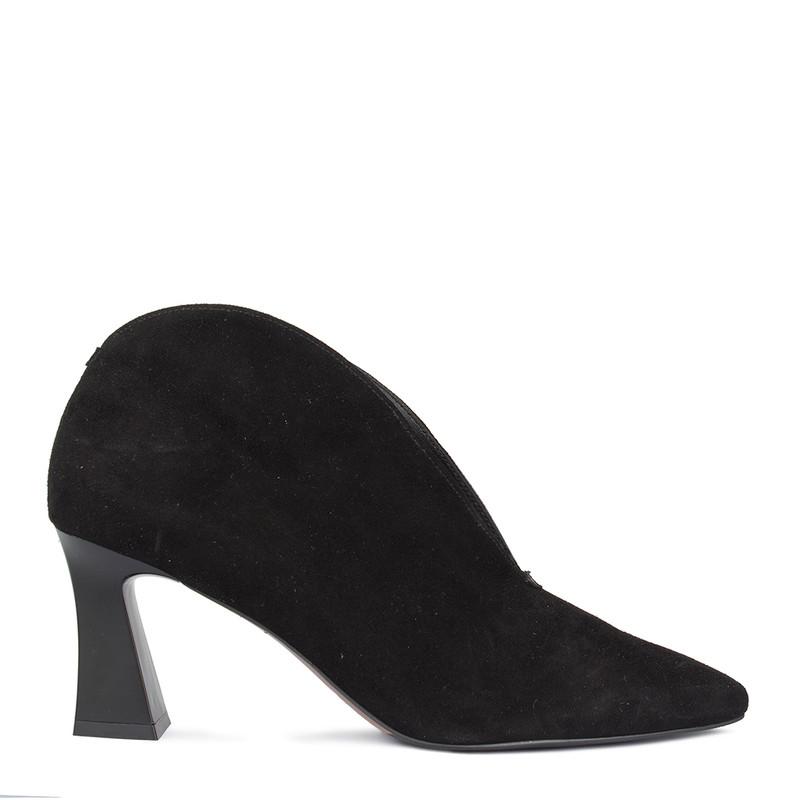 Women's Velvet Suede Ankle Boots GJ 5270810 BLS