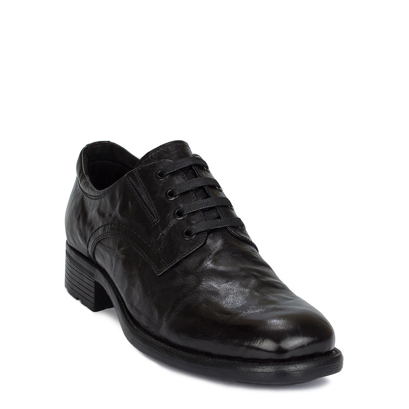 Men's Contemporary Washed Leather Derbies GN 7229810 BLA
