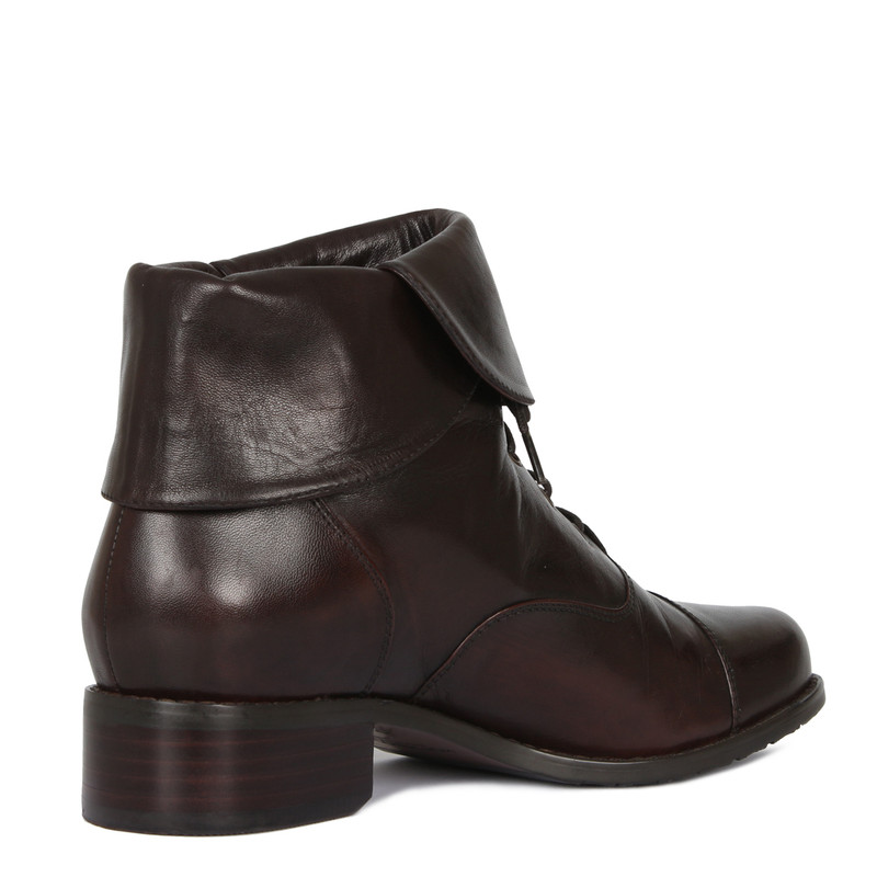Women's Dark Chocolate Leather Boots GP 5389716 BRA