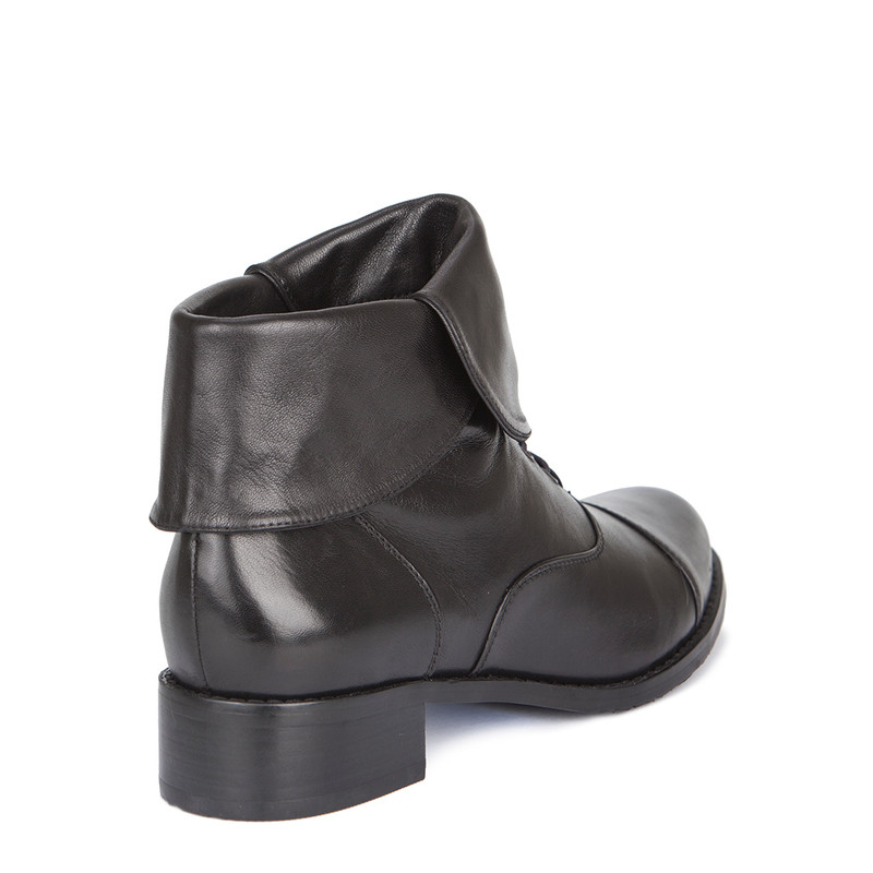 Women's Adjustable Black Leather Boots GP 5389719 BLX