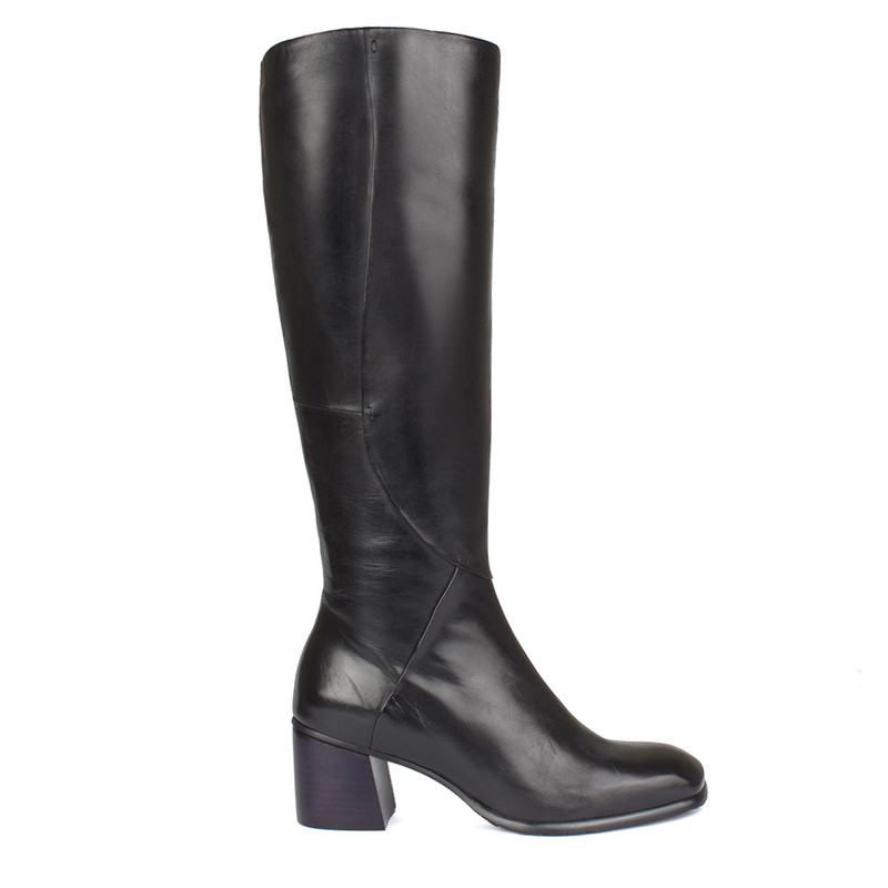 Women's Anatomical Black Leather Boots GP 5460710 BLK