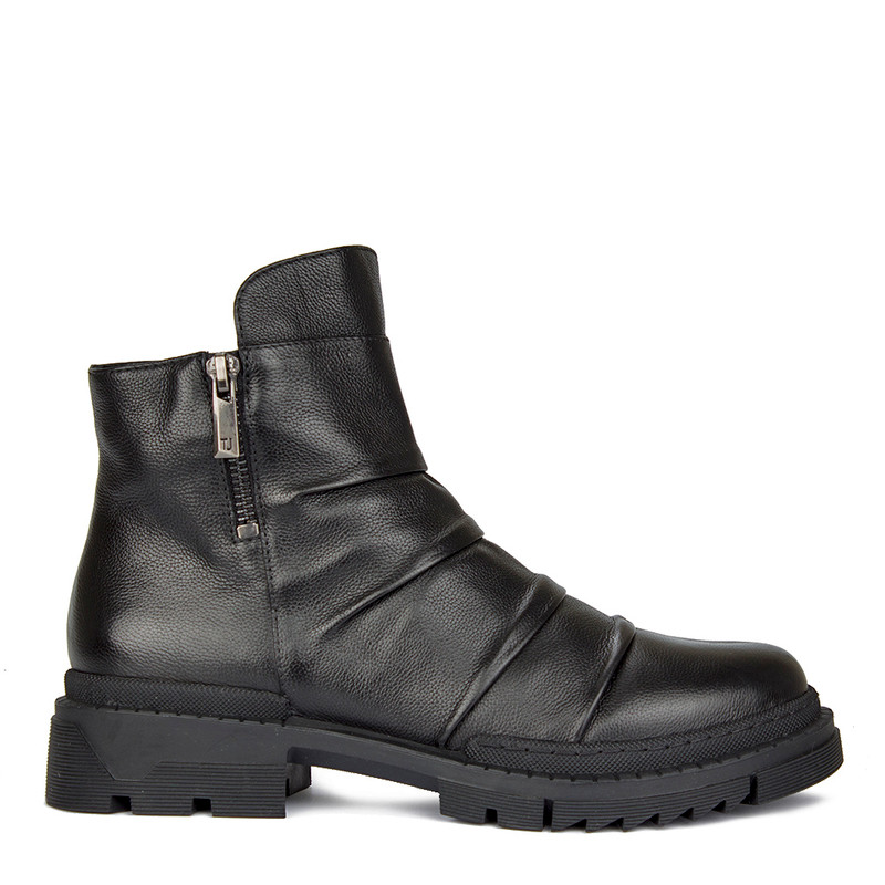 Women's Pleated Glove Leather Ankle Boots GP 5522910 BLI