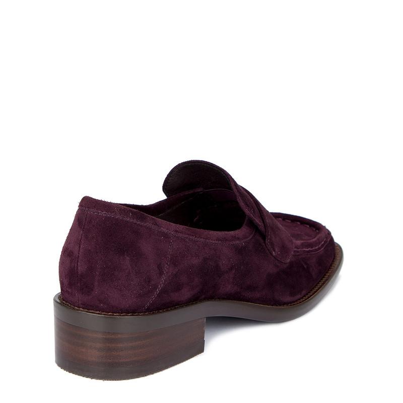 Women's Chic Purple Suede Loafers GR 5232010 VLS
