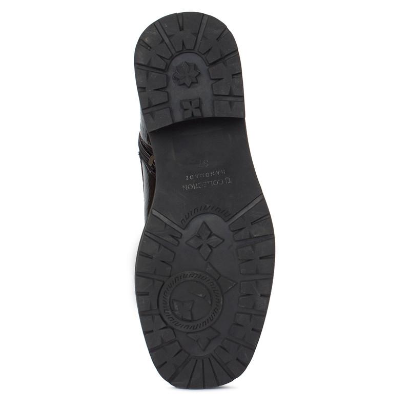 Women's Versatile Patent Leather Boots GS 5328210 BLC