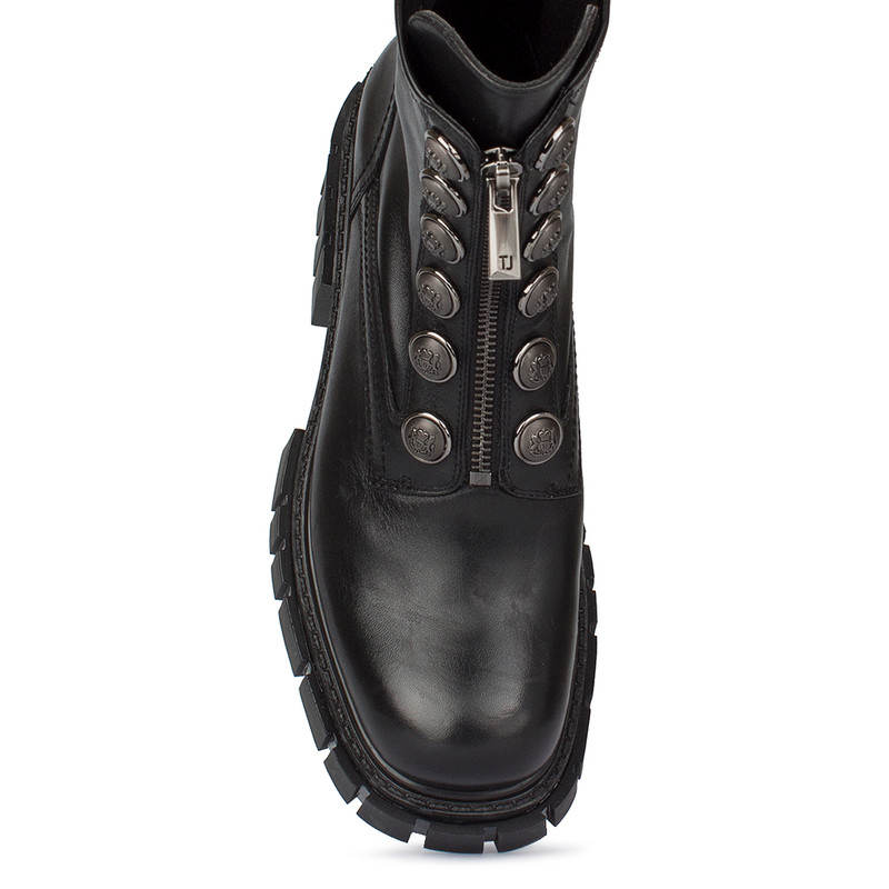 Women's Durable Stretch Leather Boots GS 5330130 BLZ