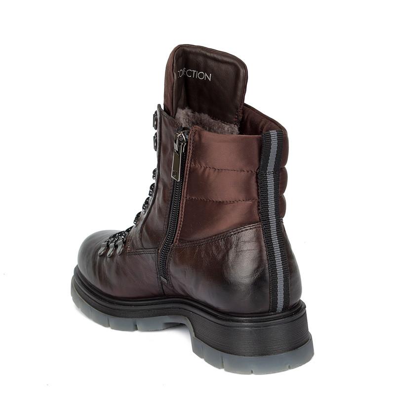 Women's Tough Bronze-Coloured Leather Boots MP 5522030 DBA