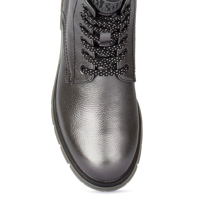 Women's Silver Metallic Matte Leather Boots MP 5525510 PLZ