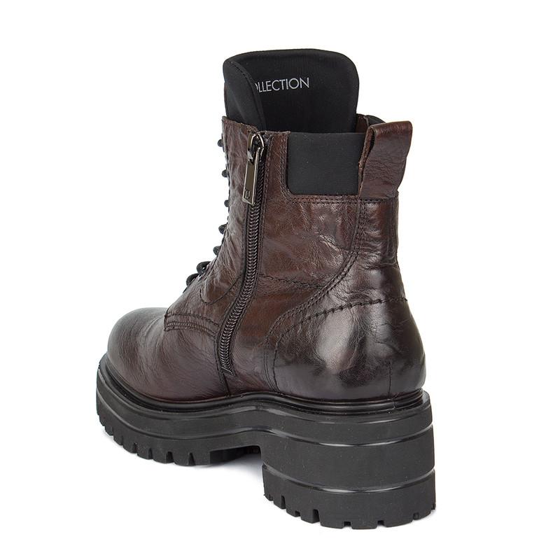 Women's Coffee Brown Nubuck Leather Boots MP 5528910 BRA