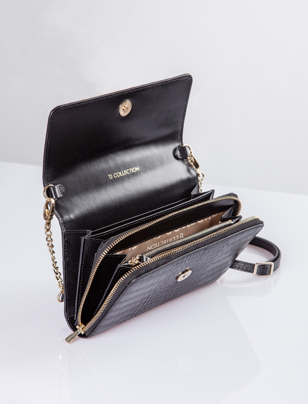 Black Leather Vienna Bag YA 5120910 BLC | TJ COLLECTION | Side Image - 3