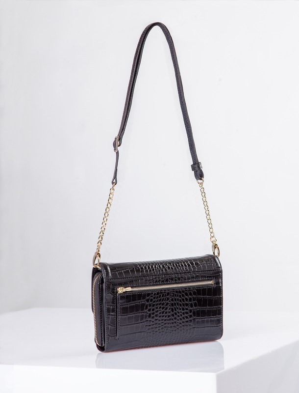 Black Leather Vienna Bag YA 5120910 BLC | TJ COLLECTION | Side Image - 2