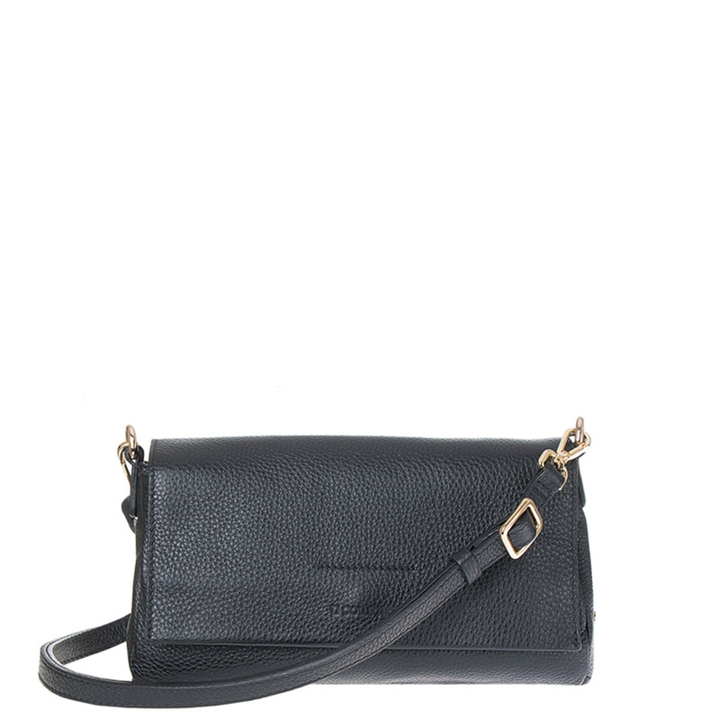 Grained Black Leather Monte Carlo Bag YG 5152515 BLK