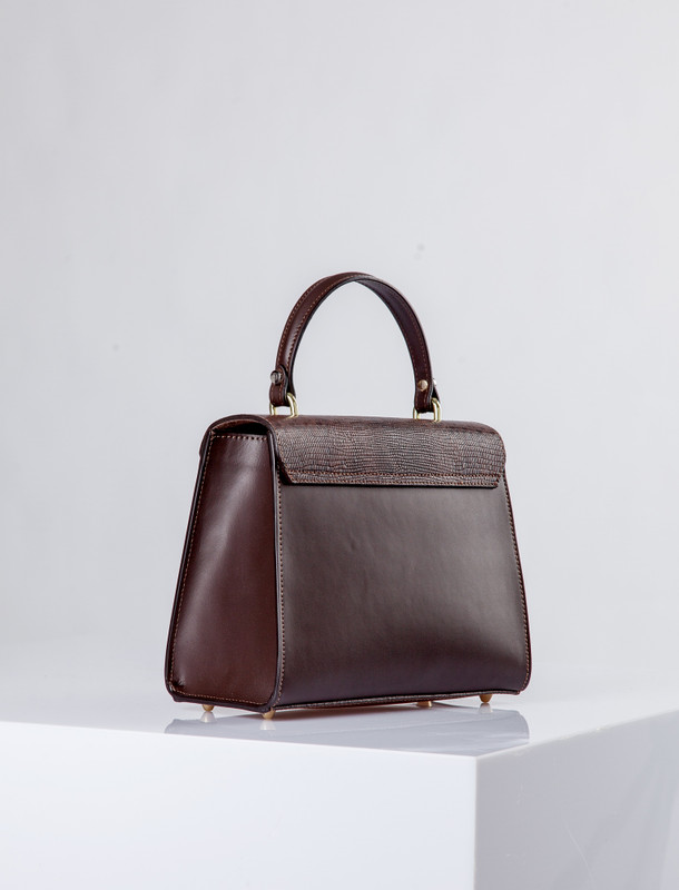 Brown Leather Pisa Satchel Bag YG 5227910 BRZ