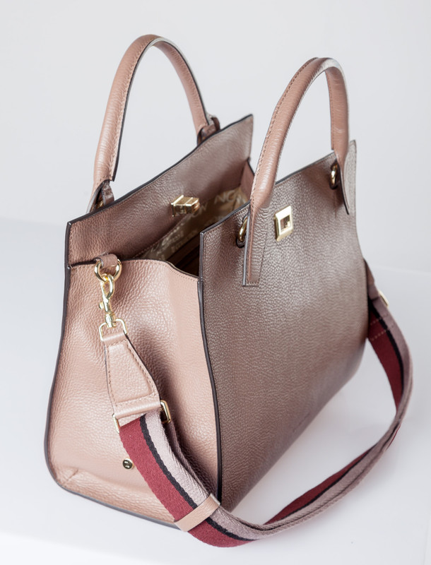 Minimalist Taupe Leather Naples Bag YG 5340810 TPN