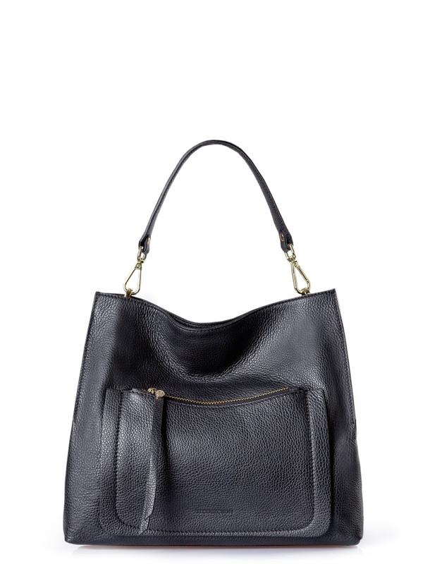 Timeless Black Leather Barcelona Bag YG 5368010 BLA