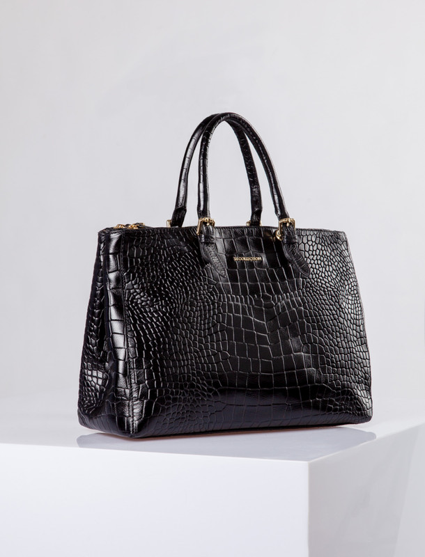 Embossed Leather Maxi Bag Sienna YG 5450018 BLC