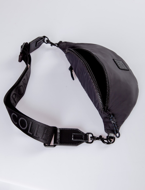 Black Unisex Textile Waist Bag YH 8111020 BLF