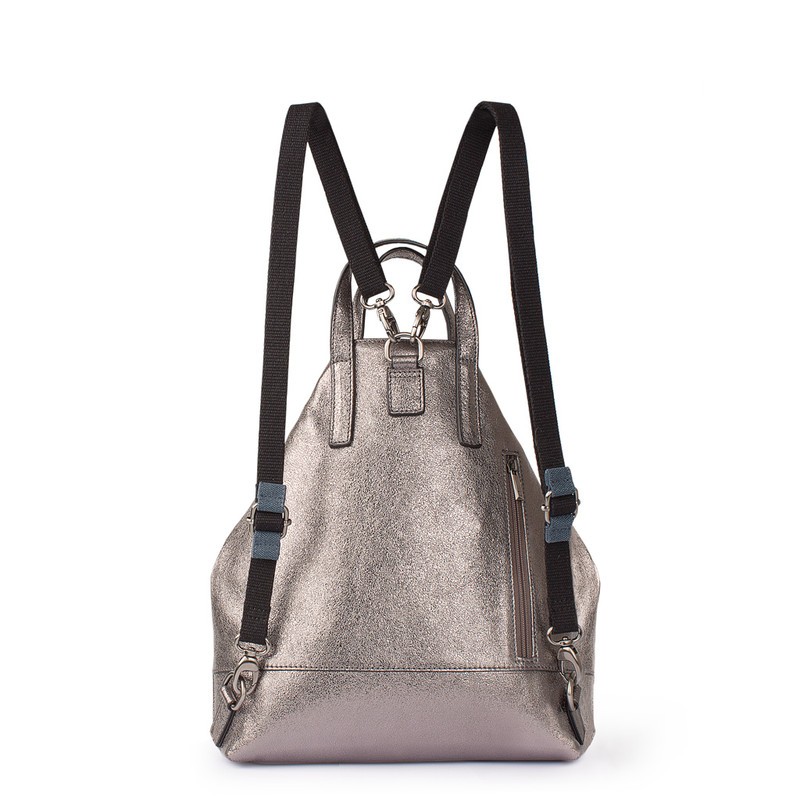 Metallic Silver Leather Torbole Bag YH 8339118 PLZ R