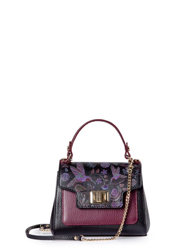 Black and Burgundy Mini Hummingbird Bag YM 5112010 BLM