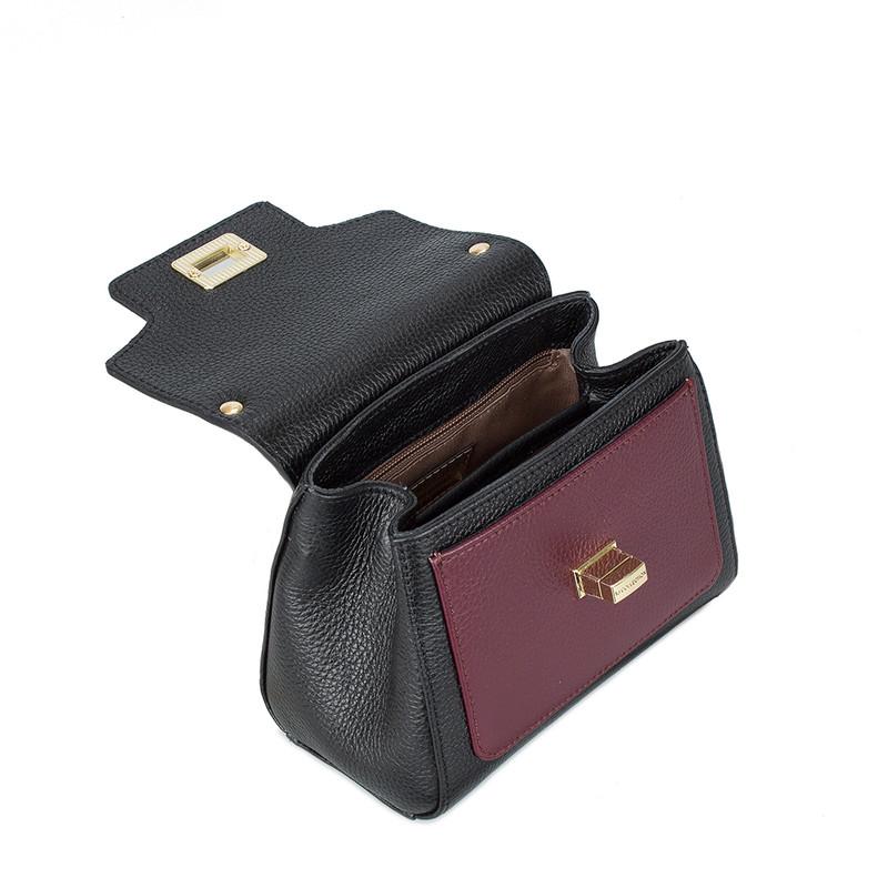 Black and Burgundy Mini Hummingbird Bag YM 5112010 BLM