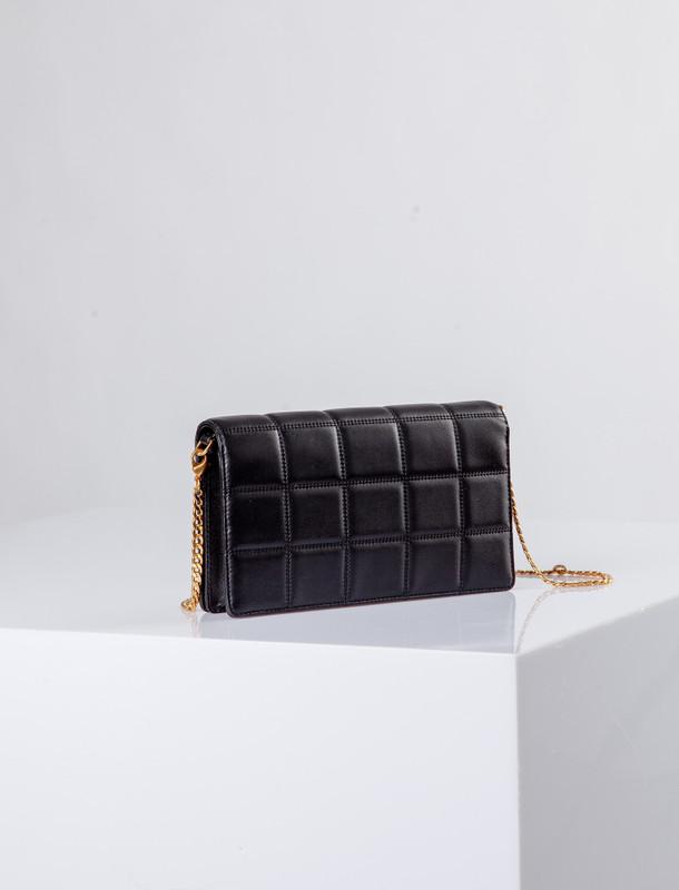 Black Leather Palermo Clutch Bag YT 5148810 BLZ