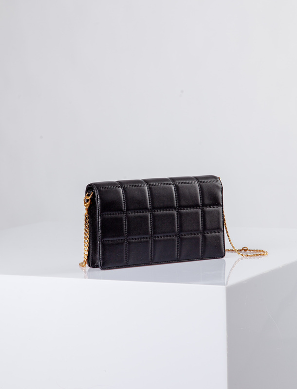 Black Leather Palermo Clutch Bag YT 5148810 BLZ