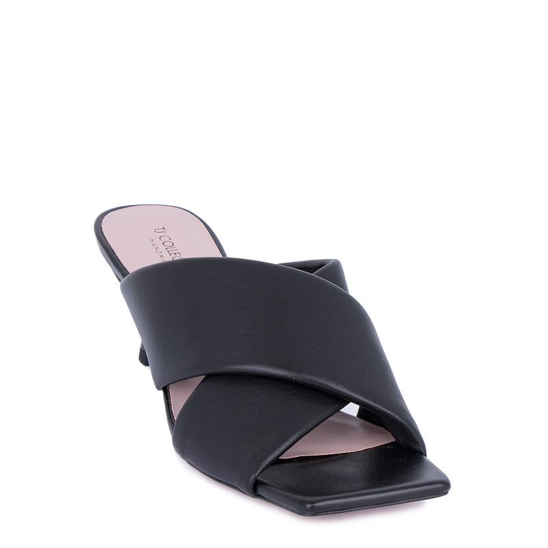 Women's Bold Black Leather Mules GD 5157011 BLI