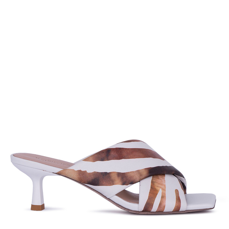 Women's Striking Leather Mules GD 5157011 WHB