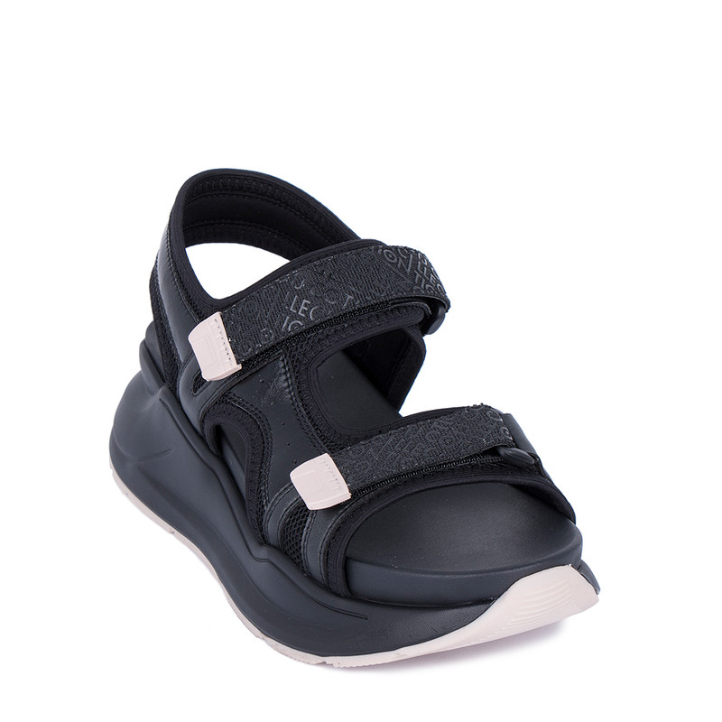Women's Black Eco leather Platform Sandals GF 5120221 BLT