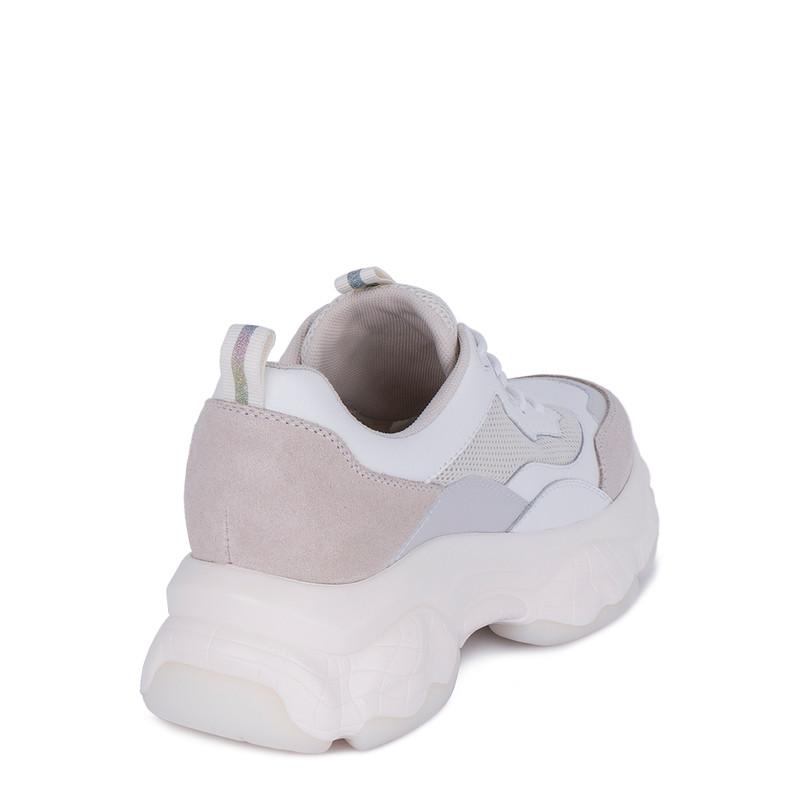 Women's White Chunky Sneakers GF 5217031 WHO