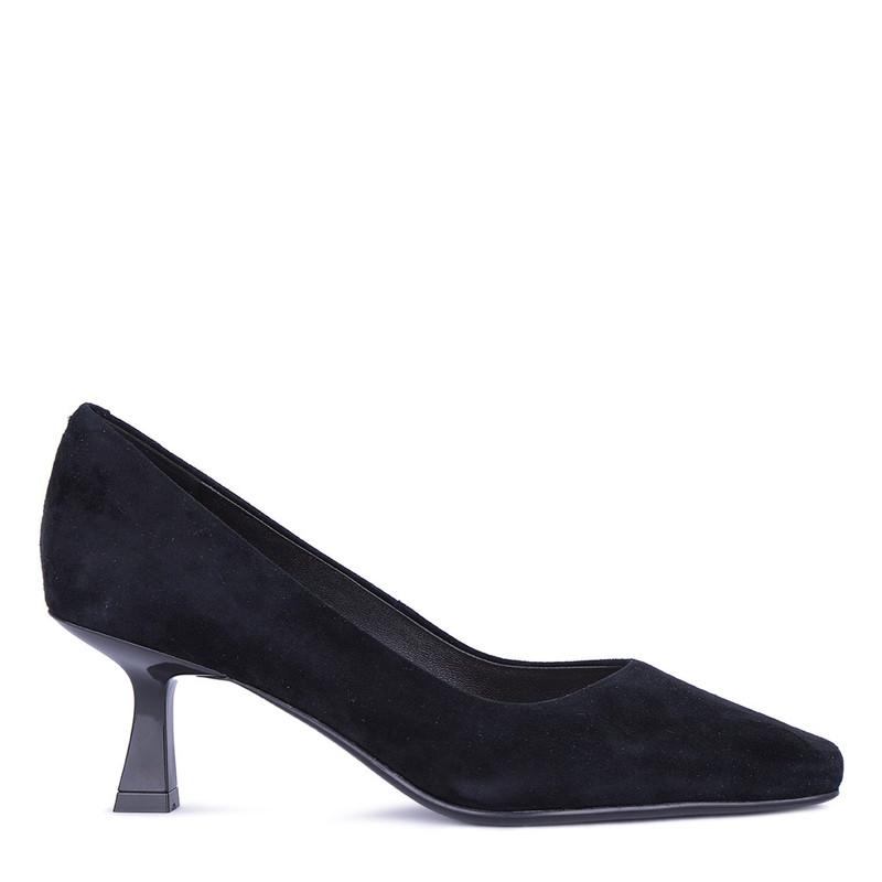 Women's Black Velvet Suede Pumps GJ 5262011 BLS