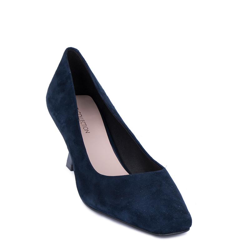 Women's Blue Velvet Suede Pumps GJ 5262011 NVS