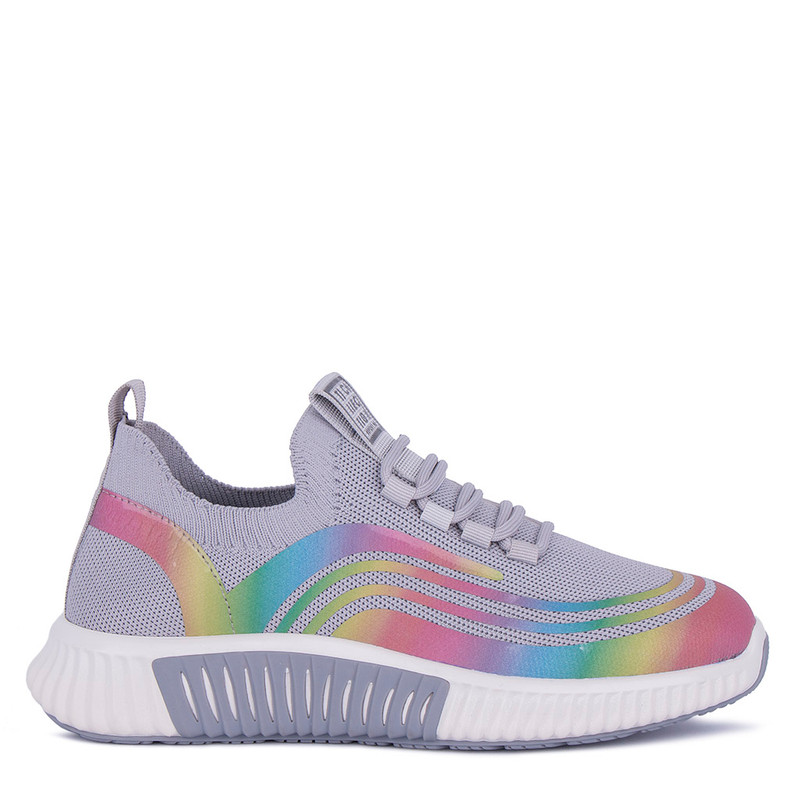 Women's Grey Textile Freedom Sneakers GK 5204921 GRM