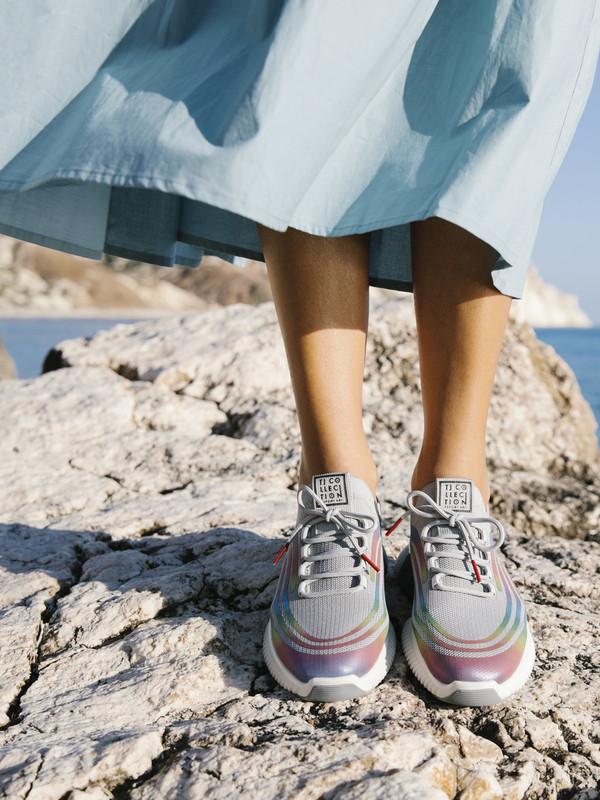Women's Grey Textile Freedom Sneakers GK 5204921 GRM