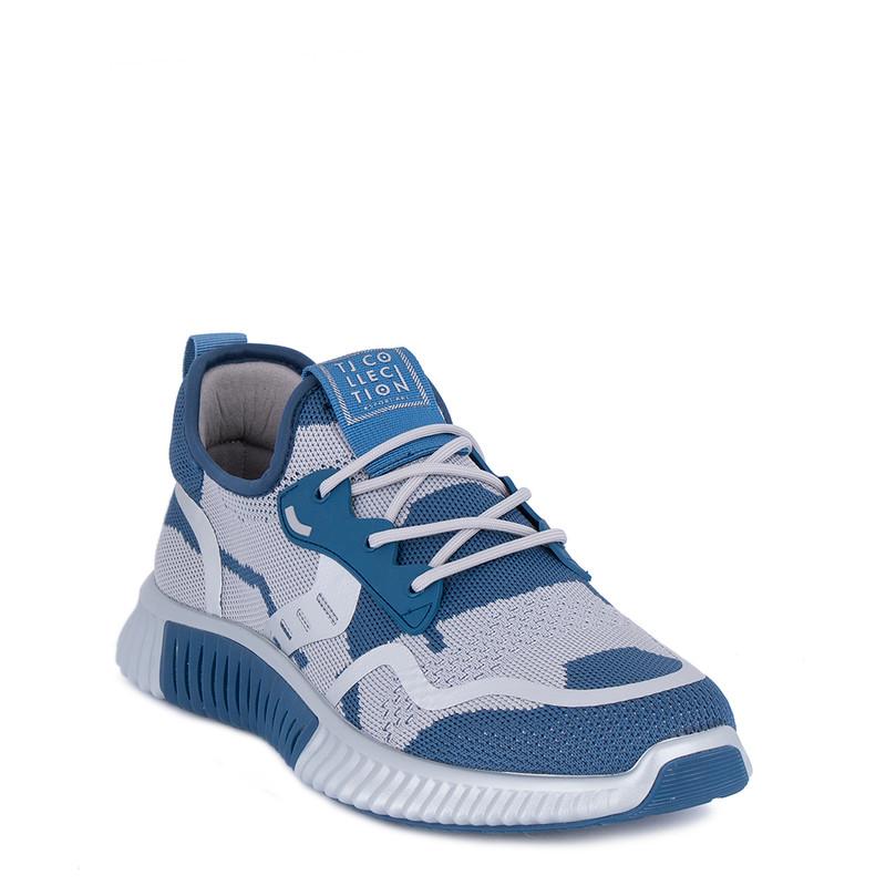 Men's White & Blue  Freedom Sneakers GK 7204421 BUG