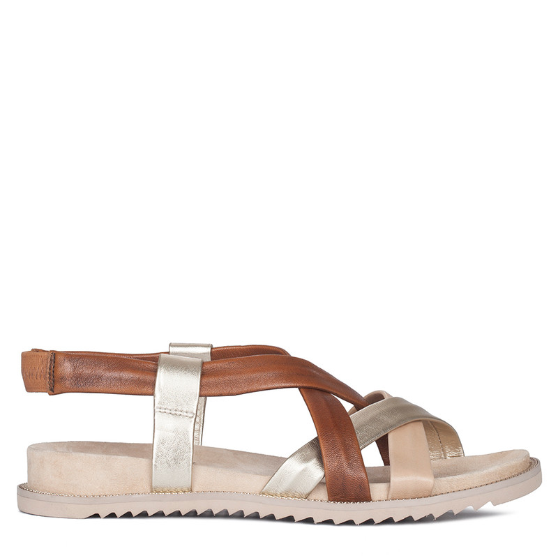 Women's Seamless Glove Leather Footbed Sandals GP 5125910 BGM