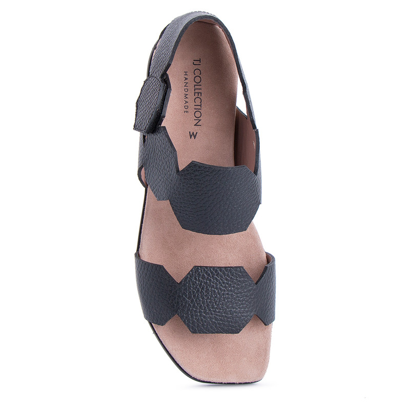 Women's Black Footbed Sandals GP 5127811 BLI