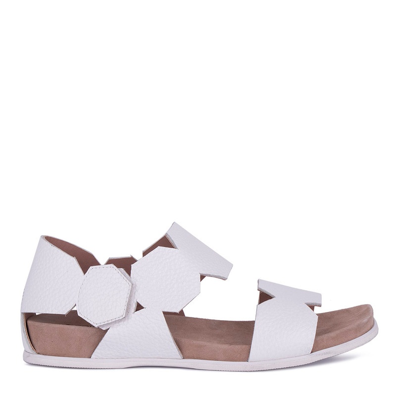 Women's White Footbed Sandals GP 5127811 WHA